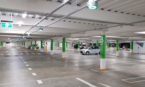 The basement carpark of the Westfeild Newmarket Basement Waterproofing