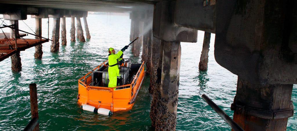 Wharf maintenance