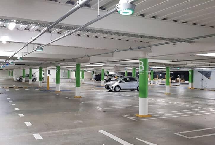 Concrete basement car part at The Westfield Newmarket, Auckland, New Zealand