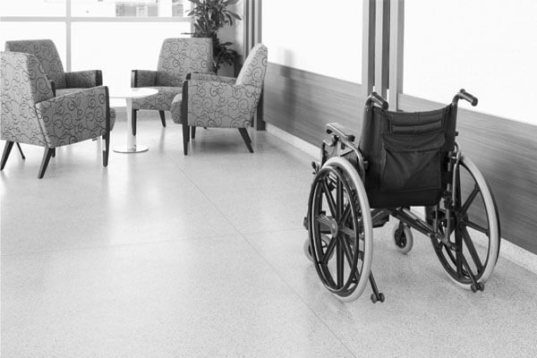 The Markham concrete hygiene and contamination protection system is shown under floor coverings at a aged care facility