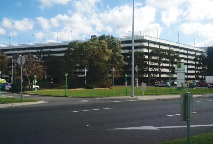 Melbourne Airport multi-level car park treated with the Markham concrete durability and protection system