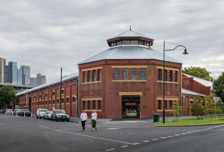 The Victorian Collage of Arts building, treated with the Markham concrete durability and protection system