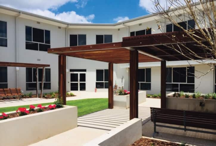 Infinite Care Toowoomba care facility with concrete hygiene protection