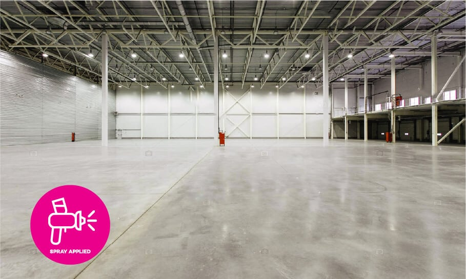 Warehouse floor protected with concrete surface treatments - Topical protection to enhance appearance & reduce maintenance